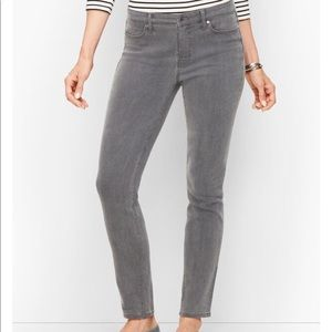 Talbots Gray Jeans Slim Ankle Slimming Solid